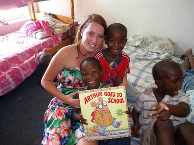 reading to orphans